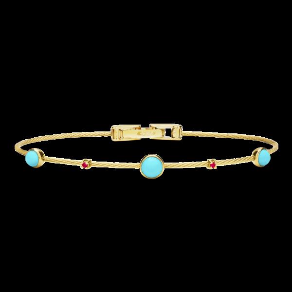 Unity Cabochon Wire Bracelet