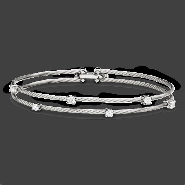 Double Unity Bracelet With 6 Diamonds