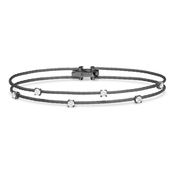 Double Unity Bracelet With 6 Diamonds
