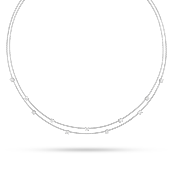 Double Unity Necklace With 11 Diamonds