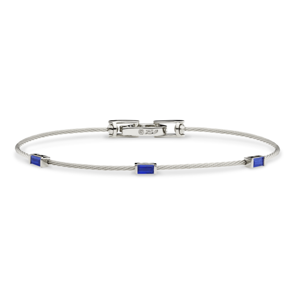 Unity Wire Bracelet With Baguettes