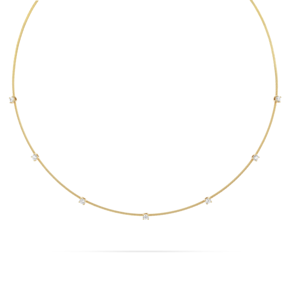 Single Unity Necklace With 7 Diamonds