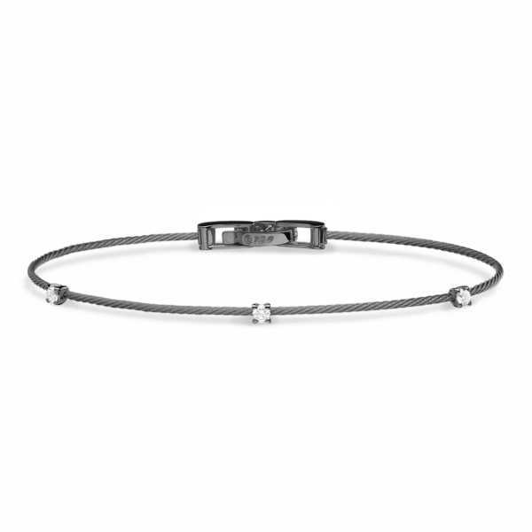 Single Unity Bracelet With 3 Diamonds