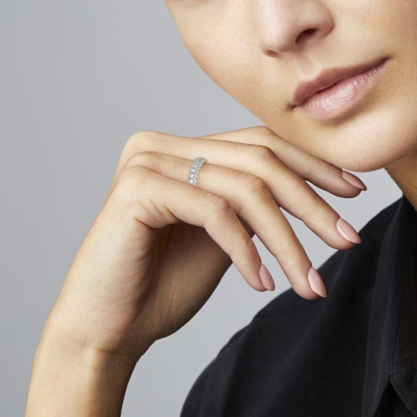 Rose Cut Diamond Eternity Ring