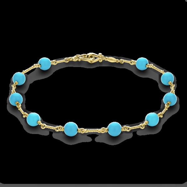 Turquoise Twist Link Bracelet