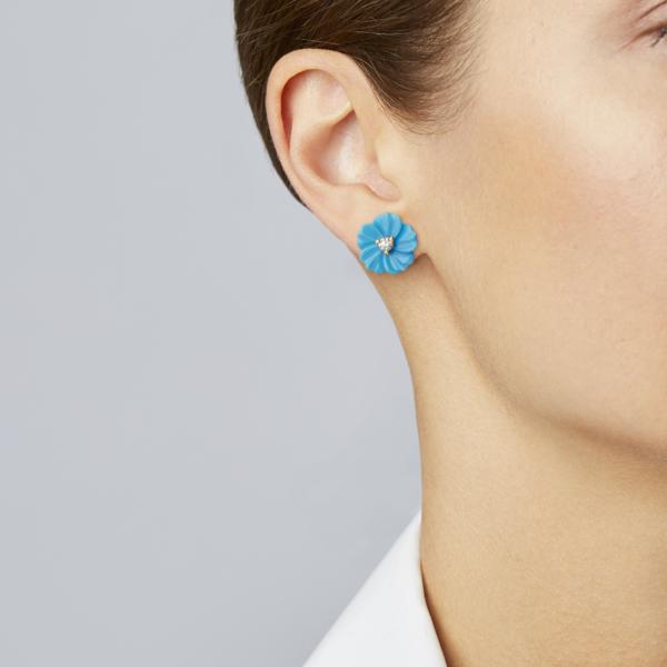 Turquoise Posy Stud Earring
