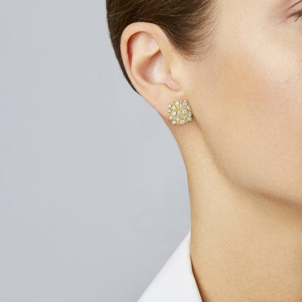 Confetti Cushion Stud Earring