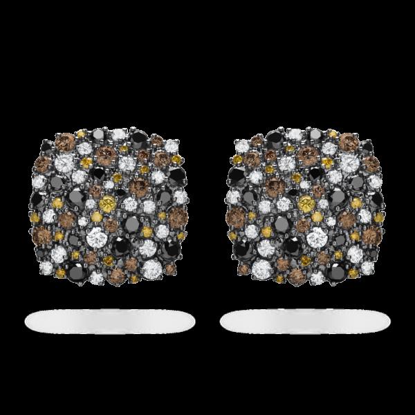 Confetti Cushion Clip Earring