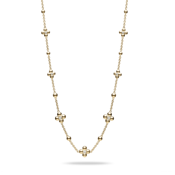 Diamond & Golden Sequence Necklace