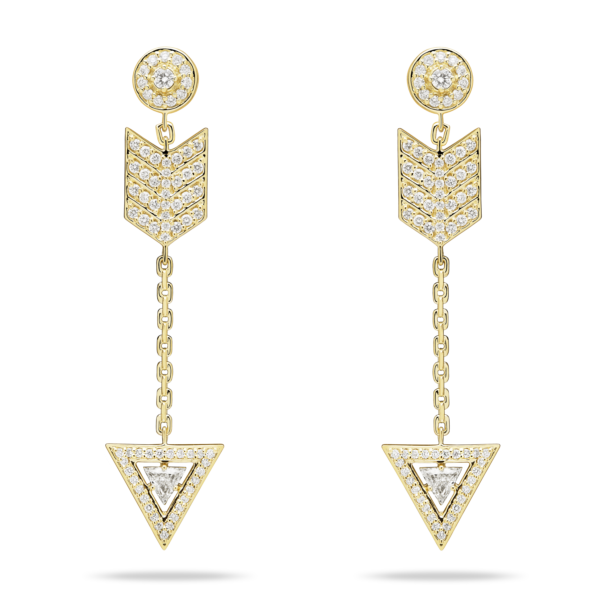 Diamond Lancetta Drop Earring
