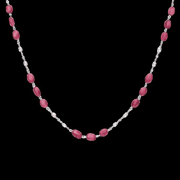Diamond Briolette & Precious Gemstone Necklace