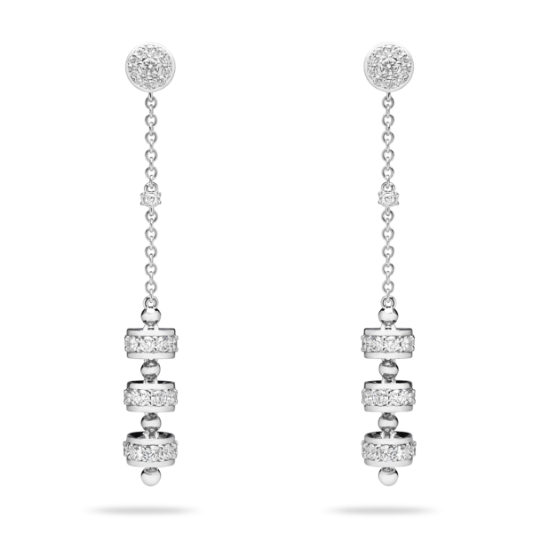 Diamond Triple Roulette Drop Earring