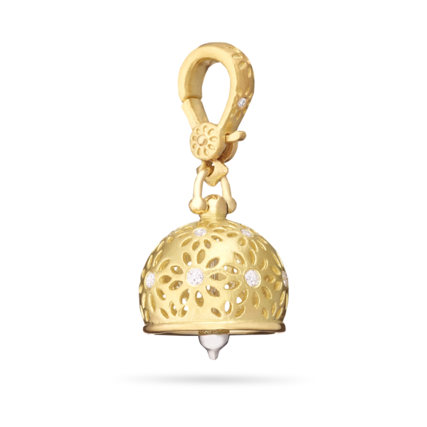 Eyelet Meditation Bell With Diamonds