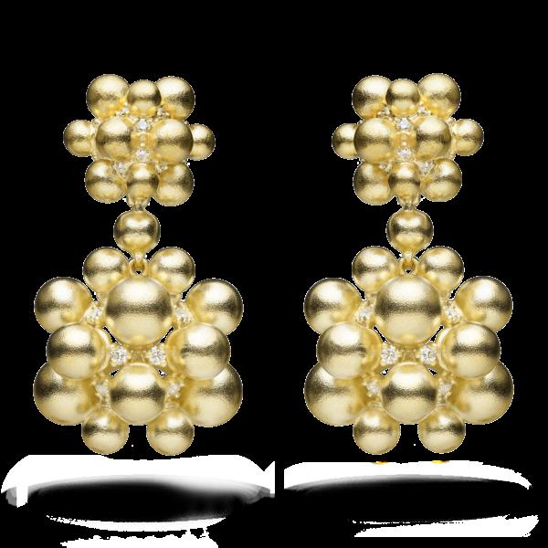 Golden Orbit Dangle Earring