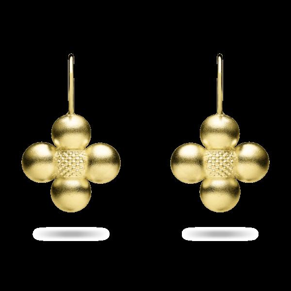 Golden Sequence Dangle Earring