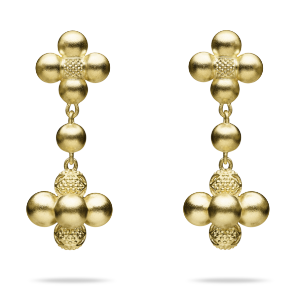 Golden Sequence Drop Earring