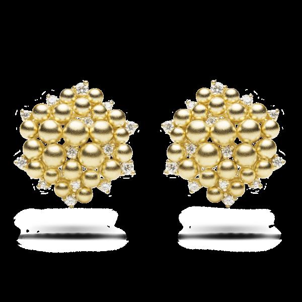 Golden Lagrange Clip Earring