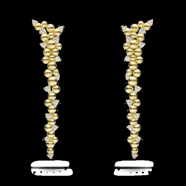 Golden Lagrange Drop Earring