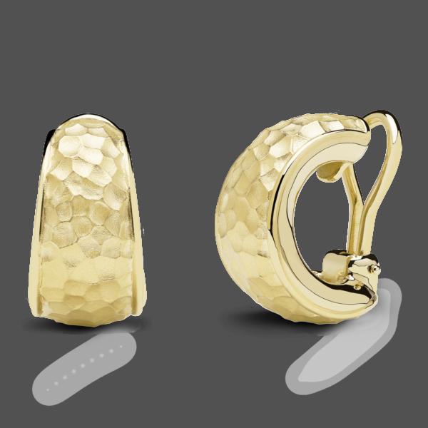 Hammered Snap Hoop Earrings