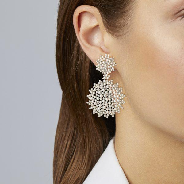 Lagrange Pearl Double Dangle Earring