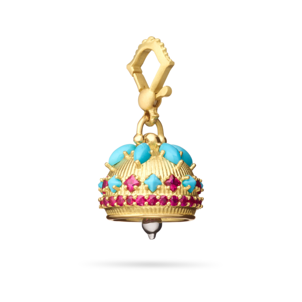 Meditation Bell With Precious Stones