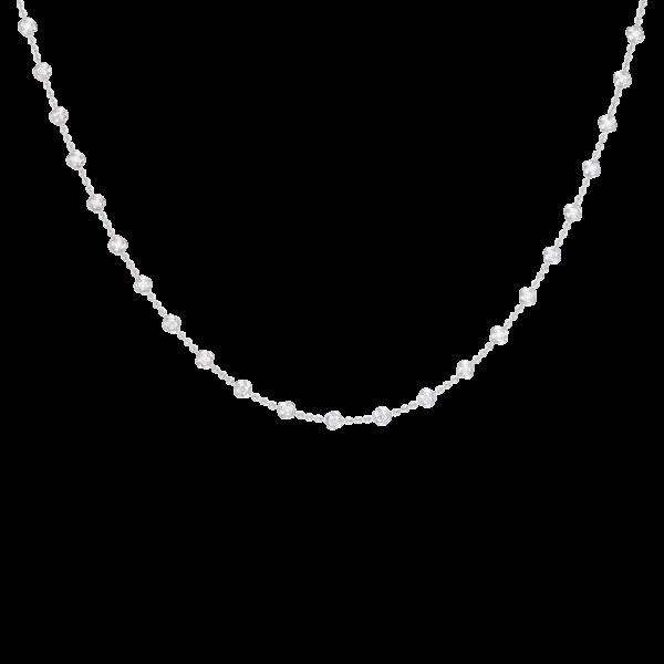 Mini Round Stone Chain Necklace