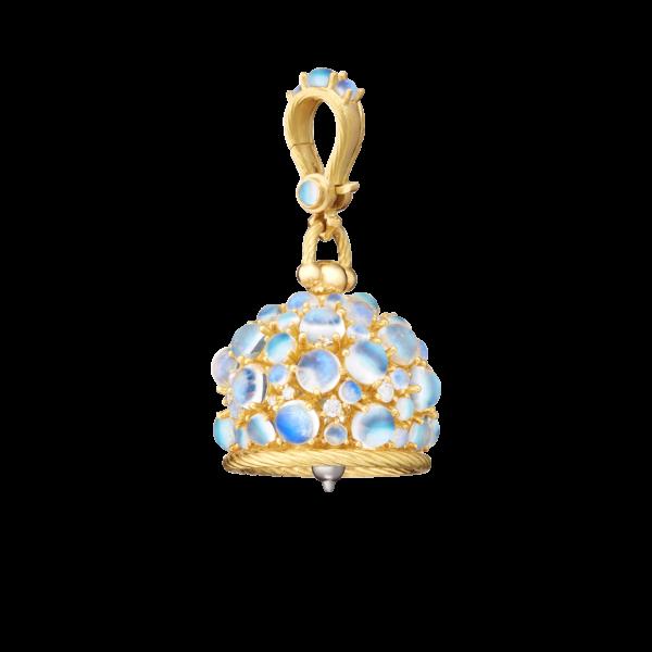 Moonstone Meditation Bell With Diamonds