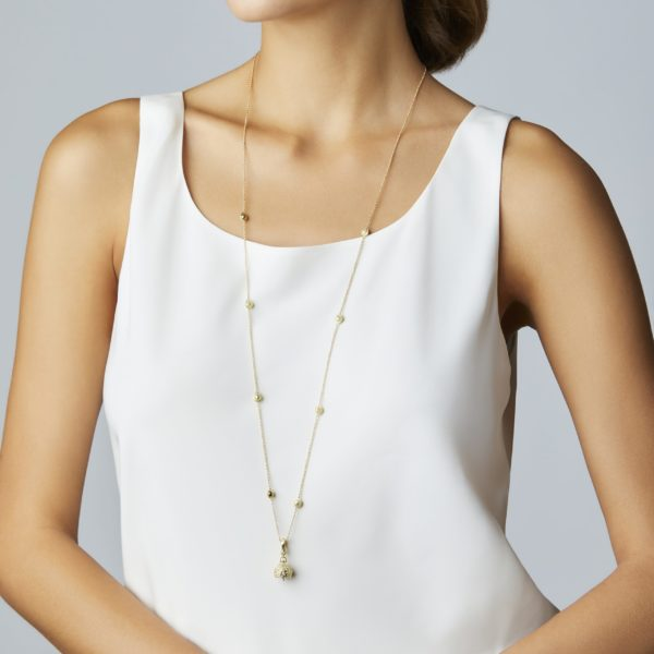 Hydrangea Meditation Bell With Diamonds