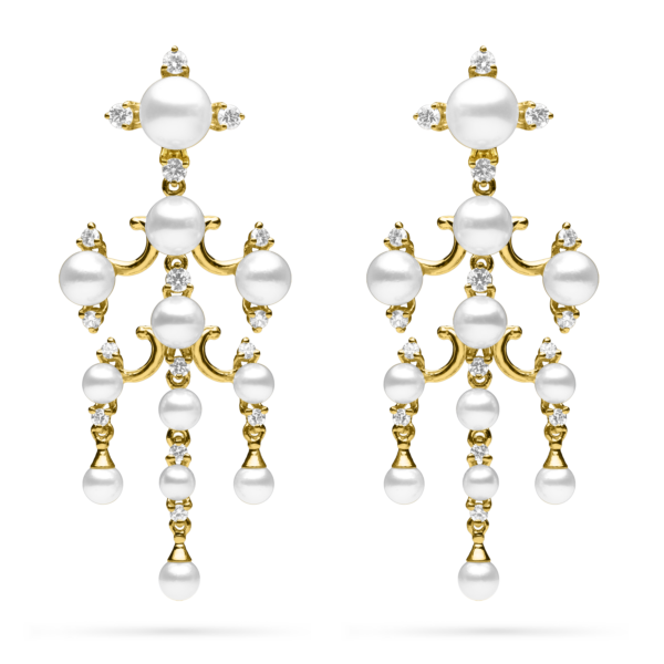 Tiered Pearl Dangle Earring