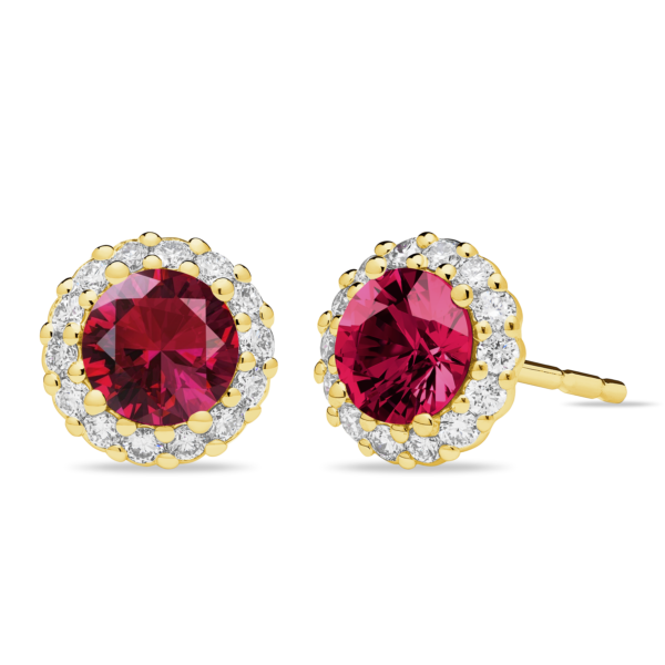 Pinpoint Ruby Stud Earring