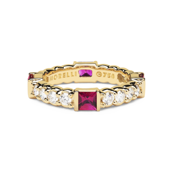 Pinpoint Square Diamond Eternity Ring