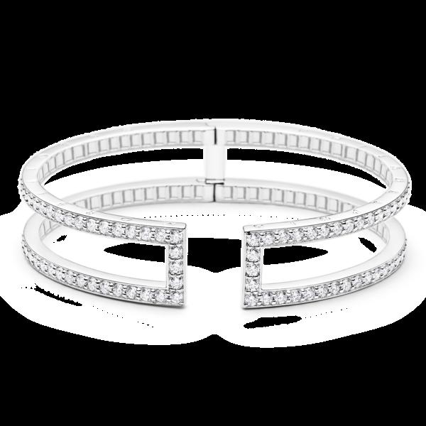 Rectangular Pinpoint Diamond Cuff