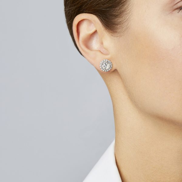 Rose Cut Diamond Stud Earring