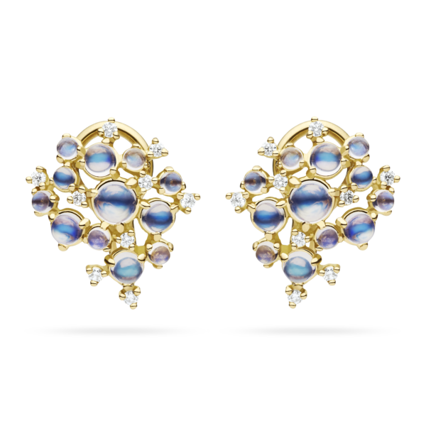 Small Bubble Cluster Clip Earring