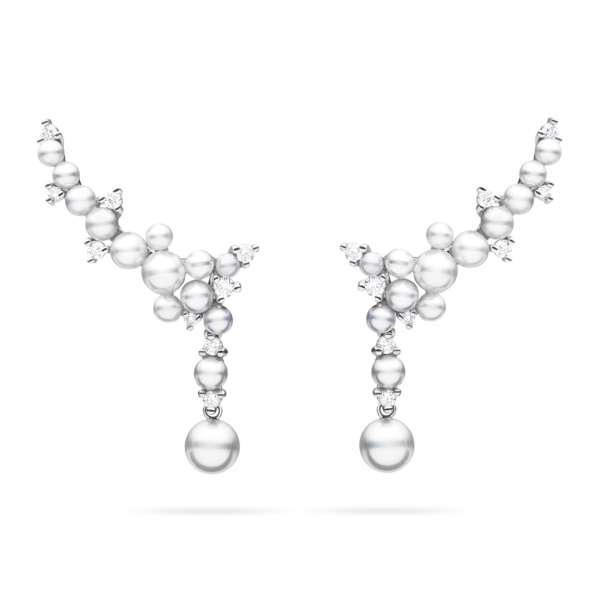 Lagrange Pearl Trellis Drop Earrings