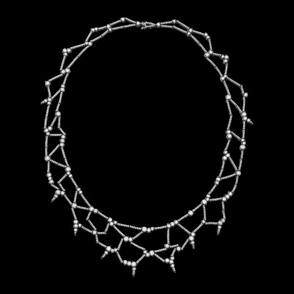 Diamond Web Necklace