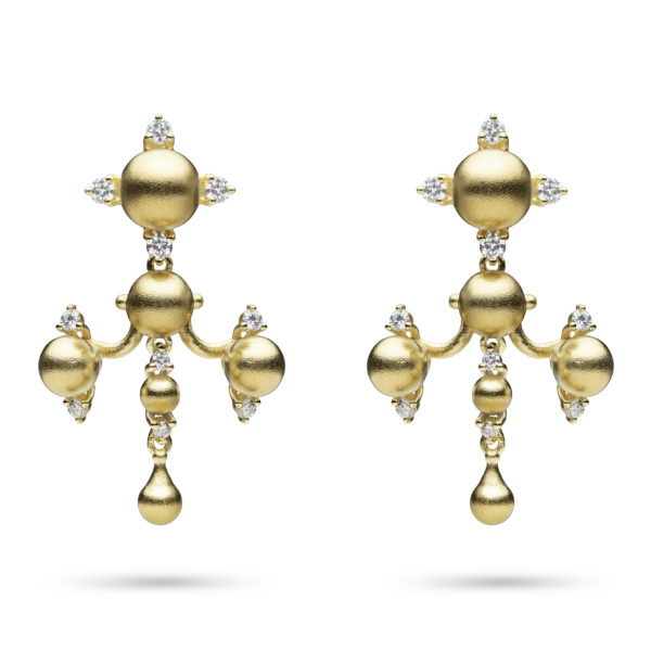 Tiered Golden Dangle Earring