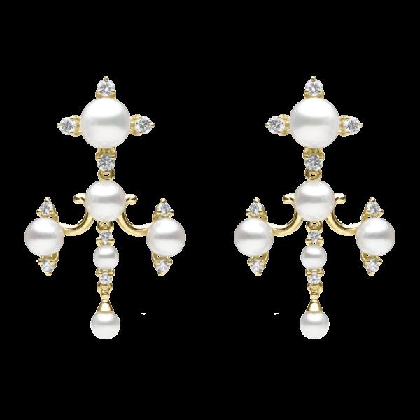 Tiered Pearl Dangle Earring