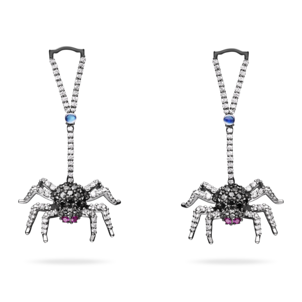 Web Clip Earring With Drop