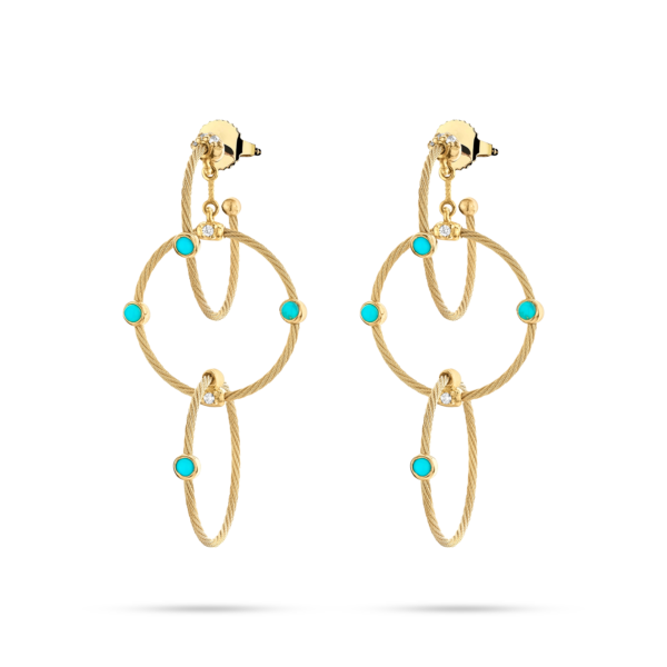 Triple Unity Rain Chain Earring