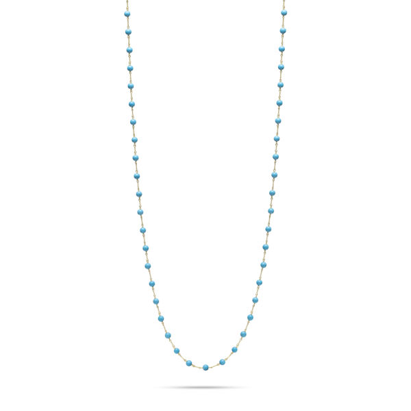 Turquoise Twist Link Necklace