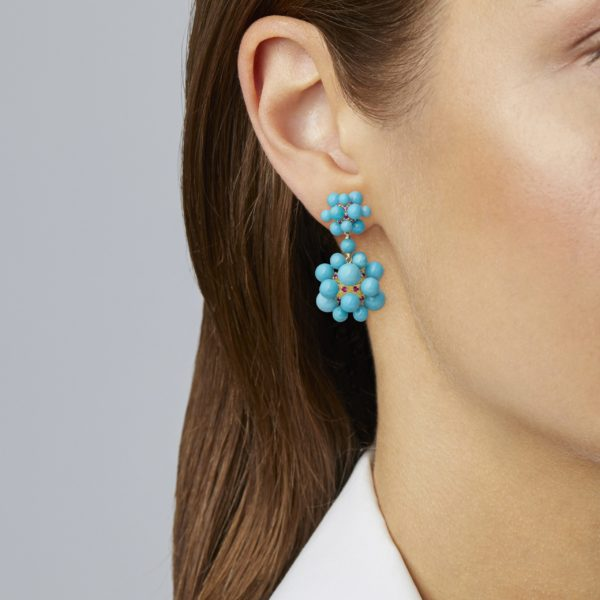 Turquoise Orbit Dangle Earring