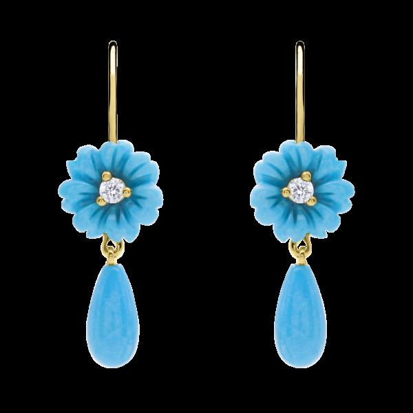 Turquoise Posy Drop Earring