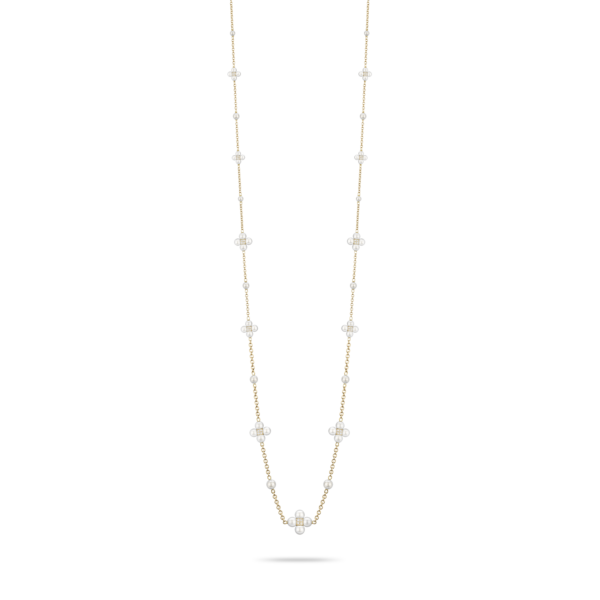Pearl & Diamond Sequence Necklace