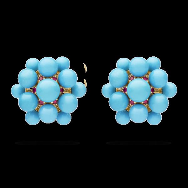 Turquoise Orbit Earring